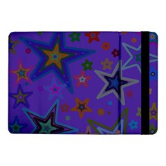 Purple Christmas Party Stars Samsung Galaxy Tab Pro 10 1  Flip Case by yoursparklingshop