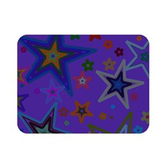 Purple Christmas Party Stars Double Sided Flano Blanket (mini)  by yoursparklingshop