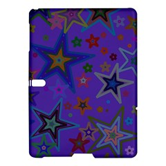 Purple Christmas Party Stars Samsung Galaxy Tab S (10.5 ) Hardshell Case  by yoursparklingshop
