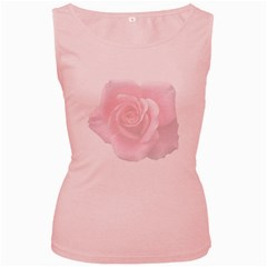 Pink White Love Rose Women s Pink Tank Top by yoursparklingshop