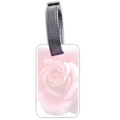 Pink White Love Rose Luggage Tags (one Side)  by yoursparklingshop