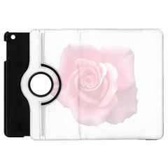 Pink White Love Rose Apple Ipad Mini Flip 360 Case by yoursparklingshop