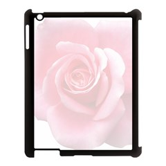 Pink White Love Rose Apple Ipad 3/4 Case (black) by yoursparklingshop