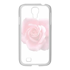 Pink White Love Rose Samsung Galaxy S4 I9500/ I9505 Case (white) by yoursparklingshop