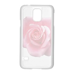 Pink White Love Rose Samsung Galaxy S5 Case (white) by yoursparklingshop