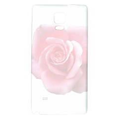 Pink White Love Rose Galaxy Note 4 Back Case by yoursparklingshop