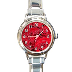 Red Love Roses Round Italian Charm Watch by yoursparklingshop