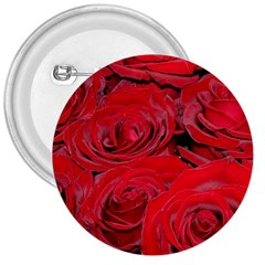 Red Love Roses 3  Buttons by yoursparklingshop