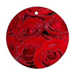 Red Love Roses Ornament (round)  by yoursparklingshop