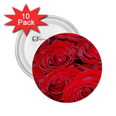 Red Love Roses 2 25  Buttons (10 Pack)  by yoursparklingshop