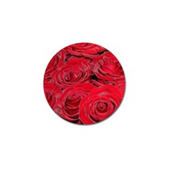 Red Love Roses Golf Ball Marker by yoursparklingshop