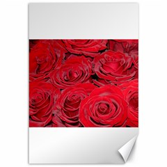 Red Love Roses Canvas 12  X 18   by yoursparklingshop