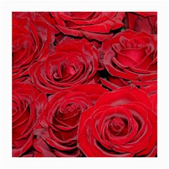 Red Love Roses Medium Glasses Cloth (2 Side) by yoursparklingshop