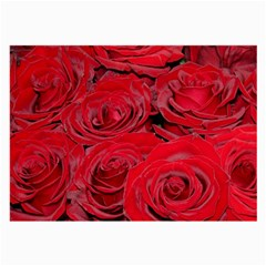 Red Love Roses Large Glasses Cloth (2 Side) by yoursparklingshop