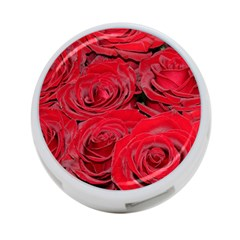 Red Love Roses 4 Port Usb Hub (two Sides)  by yoursparklingshop