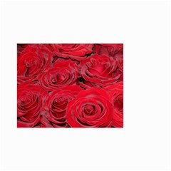 Red Love Roses Small Garden Flag (two Sides) by yoursparklingshop