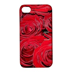 Red Love Roses Apple Iphone 4/4s Hardshell Case With Stand by yoursparklingshop