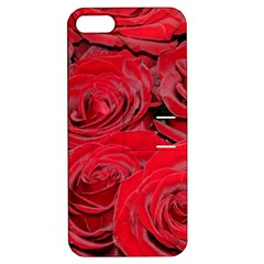Red Love Roses Apple Iphone 5 Hardshell Case With Stand by yoursparklingshop