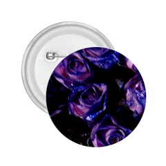 Purple Glitter Roses Valentine Love 2 25  Buttons by yoursparklingshop