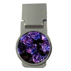 Purple Glitter Roses Valentine Love Money Clips (round)  by yoursparklingshop