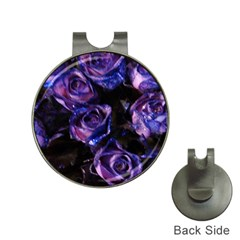 Purple Glitter Roses Valentine Love Hat Clips with Golf Markers