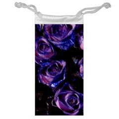 Purple Glitter Roses Valentine Love Jewelry Bags by yoursparklingshop