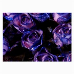 Purple Glitter Roses Valentine Love Large Glasses Cloth (2 Side) by yoursparklingshop