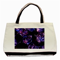 Purple Glitter Roses Valentine Love Basic Tote Bag (two Sides) by yoursparklingshop