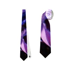 Purple Glitter Roses Valentine Love Neckties (one Side)  by yoursparklingshop