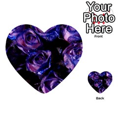 Purple Glitter Roses Valentine Love Multi Purpose Cards (heart)  by yoursparklingshop