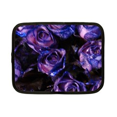 Purple Glitter Roses Valentine Love Netbook Case (small)  by yoursparklingshop