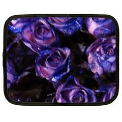 Purple Glitter Roses Valentine Love Netbook Case (xl)  by yoursparklingshop