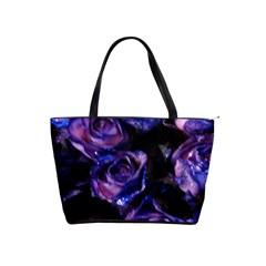 Purple Glitter Roses Valentine Love Shoulder Handbags by yoursparklingshop