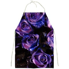 Purple Glitter Roses Valentine Love Full Print Aprons by yoursparklingshop