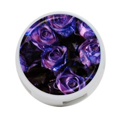Purple Glitter Roses Valentine Love 4 Port Usb Hub (two Sides)  by yoursparklingshop