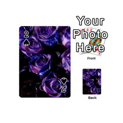 Purple Glitter Roses Valentine Love Playing Cards 54 (mini)  by yoursparklingshop