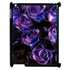 Purple Glitter Roses Valentine Love Apple Ipad 2 Case (black) by yoursparklingshop