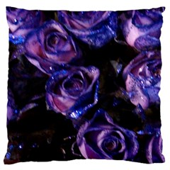 Purple Glitter Roses Valentine Love Large Cushion Case (two Sides) by yoursparklingshop