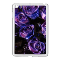 Purple Glitter Roses Valentine Love Apple Ipad Mini Case (white) by yoursparklingshop