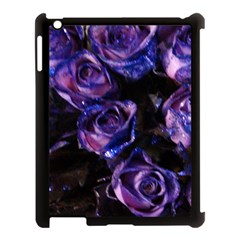 Purple Glitter Roses Valentine Love Apple Ipad 3/4 Case (black) by yoursparklingshop