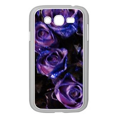 Purple Glitter Roses Valentine Love Samsung Galaxy Grand Duos I9082 Case (white) by yoursparklingshop