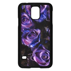 Purple Glitter Roses Valentine Love Samsung Galaxy S5 Case (black) by yoursparklingshop