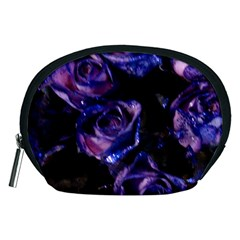 Purple Glitter Roses Valentine Love Accessory Pouches (medium)  by yoursparklingshop