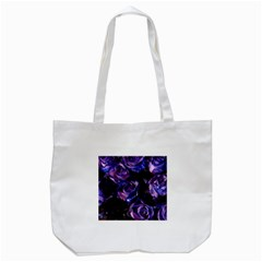 Purple Glitter Roses Valentine Love Tote Bag (white) by yoursparklingshop