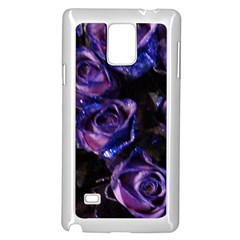 Purple Glitter Roses Valentine Love Samsung Galaxy Note 4 Case (white) by yoursparklingshop