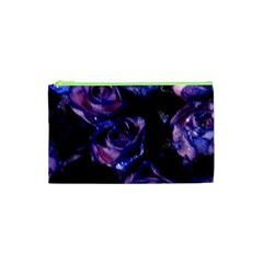 Purple Glitter Roses Valentine Love Cosmetic Bag (xs) by yoursparklingshop