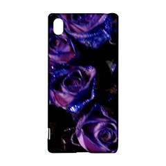 Purple Glitter Roses Valentine Love Sony Xperia Z3+ by yoursparklingshop