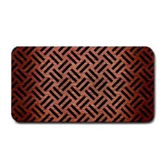 Woven2 Black Marble & Copper Brushed Metal (r) Medium Bar Mat by trendistuff