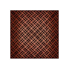 Woven2 Black Marble & Copper Brushed Metal (r) Acrylic Tangram Puzzle (4  X 4 ) by trendistuff