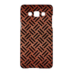 Woven2 Black Marble & Copper Brushed Metal (r) Samsung Galaxy A5 Hardshell Case  by trendistuff